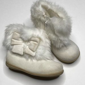 Gymboree Faux Suede & Fur Bow Boot Winter Warm